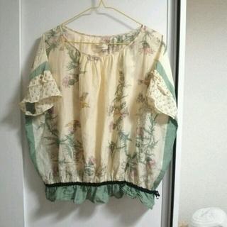 セレクト(SELECT)のmymphia/シルク&コットンシャツ(カットソー(半袖/袖なし))