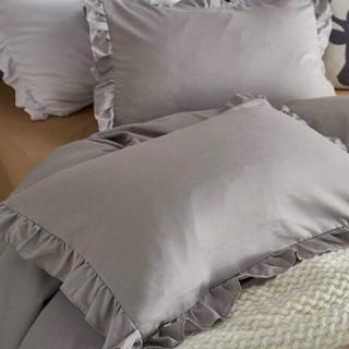 フランフラン(Francfranc)の枕カバー 2枚セット ピロケース クッションカバー ライトグレー(シーツ/カバー)