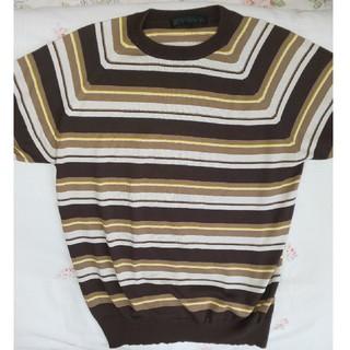 アンライバルド(UNRIVALED)の美品 ELT UNRIVALEDアンライバルド 半袖ニット 茶色系 サイズM(ニット/セーター)