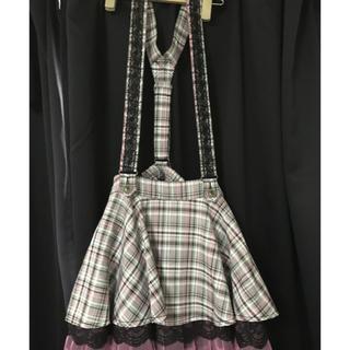 アルゴンキン(ALGONQUINS)のサスペンダー付きスカート(ミニスカート)