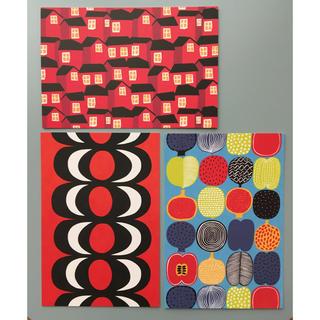 マリメッコ(marimekko)のマリメッコ ポストカード ハガキ 赤系3枚セット(その他)