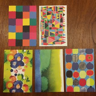 マリメッコ(marimekko)のマリメッコ ポストカード ハガキ カラフルな2枚のセット(その他)