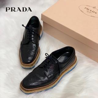 プラダ(PRADA)の500 プラダ ウィングチップ シューズ(ローファー/革靴)