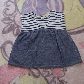 シップス(SHIPS)のSHIPS・女の子・80・袖無しTシャツワンピース・美品(ワンピース)