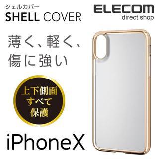 アイフォーン(iPhone)のエレコム iPhone X iPhone XS シェルカバー クリア ゴールド(iPhoneケース)