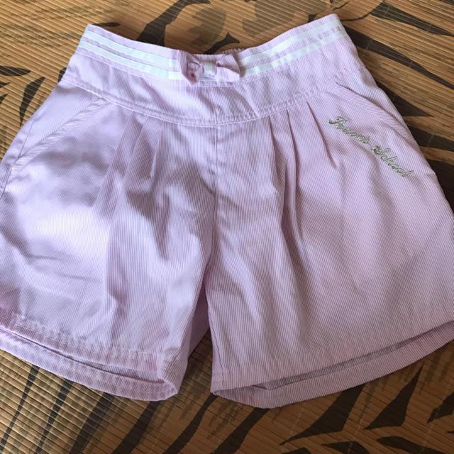 PERSON'S KIDS(パーソンズキッズ)の160センチ パーソンズ ピンク ストライプ パンツ キッズ/ベビー/マタニティのキッズ服女の子用(90cm~)(パンツ/スパッツ)の商品写真