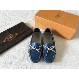 トッズ(TOD'S)の☆TOD'S☆トッズ☆ドライビングシューズ 35 ブルー ローファー(ローファー/革靴)