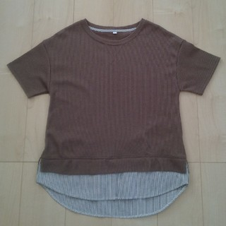 シマムラ(しまむら)のしまむら ワッフル 半袖 重ね着風 Tシャツ M(Tシャツ(半袖/袖なし))