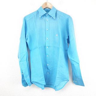 エトロ(ETRO)の新品同様 エトロ ETRO シャツ リネン シンプル ブルー カッターシャツ(シャツ)