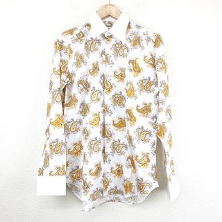 エトロ(ETRO)の新品同様 エトロ ETRO 柄 シャツ ペイズリー柄 ホワイト カッターシャツ(シャツ)