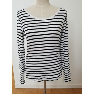 ジーユー(GU)の♪試着のみ GU ボーダーロンT XLサイズ♪(Tシャツ(長袖/七分))