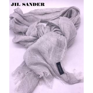 ジルサンダー(Jil Sander)の美品JIL SANDER リネンストール男女兼用(ストール/パシュミナ)