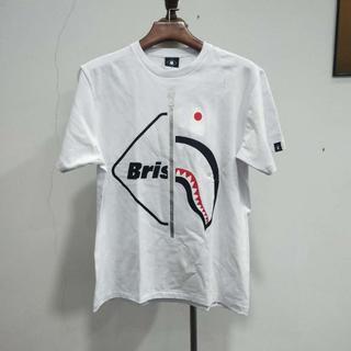 アベイシングエイプ(A BATHING APE)のBAPE x F.C.R.B. SHARK TEE ホワイトM(Tシャツ/カットソー(半袖/袖なし))