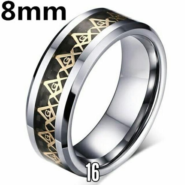 ♣フリーメイソン リング⭐チェーンネックレス付き メンズのアクセサリー(リング(指輪))の商品写真