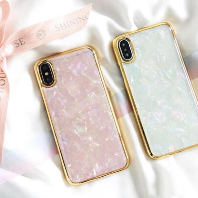 新品 ジュエル シェル iPhoneケース 6 7 8 X XR 対応の通販 by peach.Jr's shop|ラクマ
