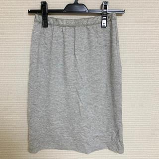 エニィスィス(anySiS)のanysis スウェット風 スカート(ひざ丈スカート)