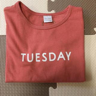 シマムラ(しまむら)の新品 テータテート 100 tete a tete Tシャツ 曜日 バースデイ(Tシャツ/カットソー)