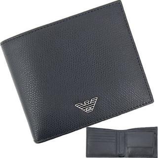 af5e5529e6c5 エンポリオアルマーニ(Emporio Armani)の【新品】 アルマーニ 二つ折り財布 イーグルロゴ