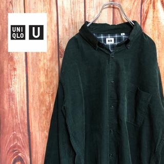 ユニクロ(UNIQLO)のビッグサイズ【UNIQLO】コーデュロイ 長袖シャツ(シャツ)