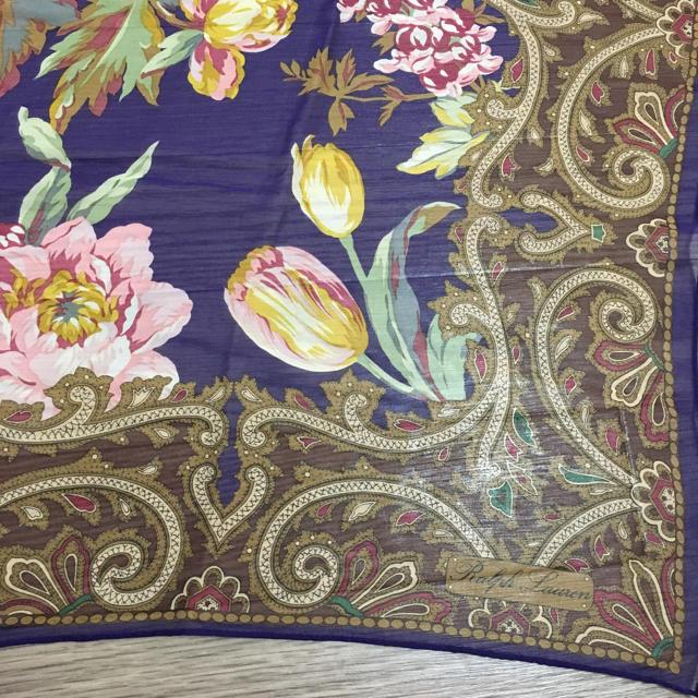 Ralph Lauren(ラルフローレン)のラルフローレン シルクスカーフ レディースのファッション小物(バンダナ/スカーフ)の商品写真