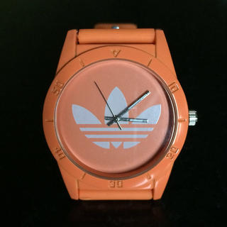 アディダス(adidas)のアディダス腕時計オレンジ白(腕時計)