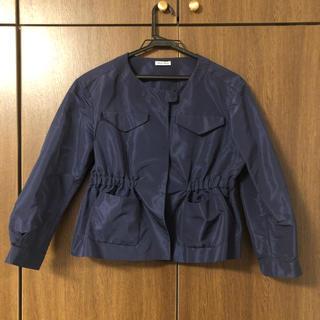 ミュウミュウ(miumiu)のミュウミュウ紺ジャケット(ノーカラージャケット)