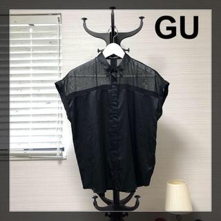 ジーユー(GU)のGU シースルー サテンシャツ(シャツ/ブラウス(半袖/袖なし))