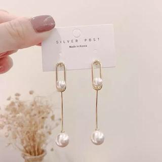 ナノユニバース(nano・universe)のPearl fall earrings No.65(ピアス)