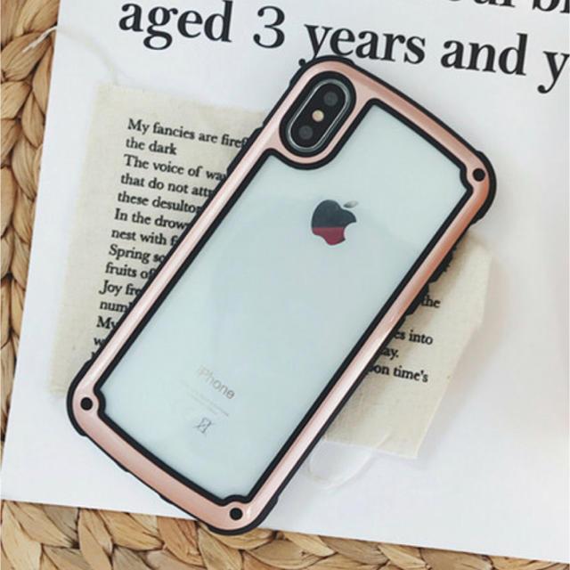 iphonex ケース マリオ / iPhone - iPhoneケース ピンクゴールド  バイカラーの通販 by ちむたむs' shop|アイフォーンならラクマ