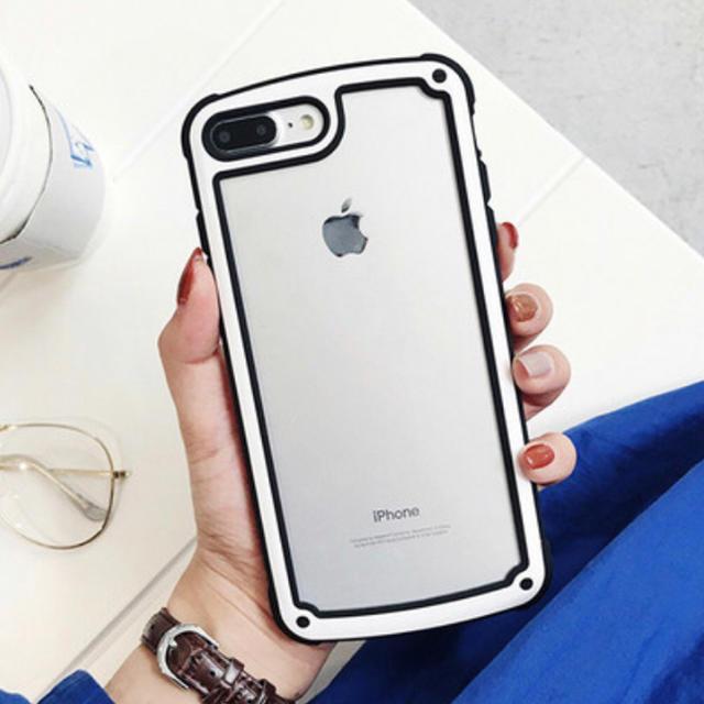 iPhone - iPhoneケース ホワイト バイカラーの通販 by ちむたむs' shop|アイフォーンならラクマ