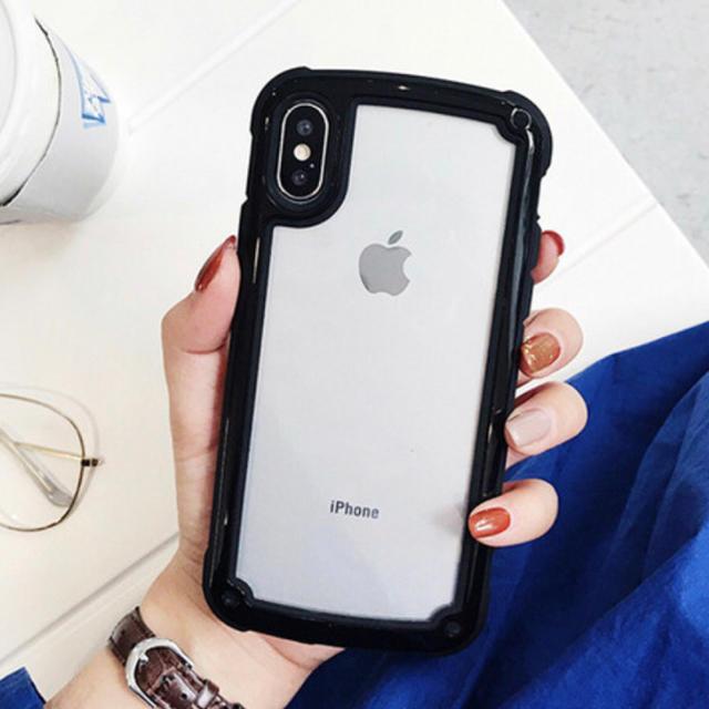 iPhone - iPhoneケース ブラック バイカラーの通販 by ちむたむs' shop|アイフォーンならラクマ