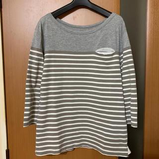 サカイ(sacai)の人気『sacai』ボーダー切り替え7分袖カットソー サカイ(Tシャツ/カットソー(七分/長袖))