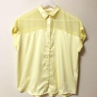 ジーユー(GU)のシースルー半袖シャツ(シャツ/ブラウス(半袖/袖なし))