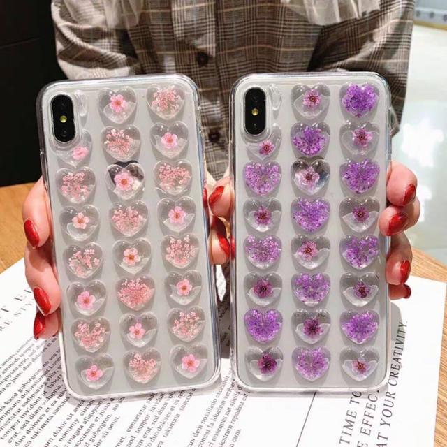 韓国 iphone7 ケース - iPhoneX  iPhoneXS専用ケース ぷくぷく 押花 ピンクの通販 by セール実施中 |ラクマ