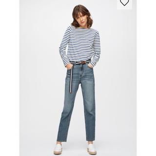 ジーユー(GU)のGU ボートネック ボーダーTシャツ(Tシャツ(長袖/七分))