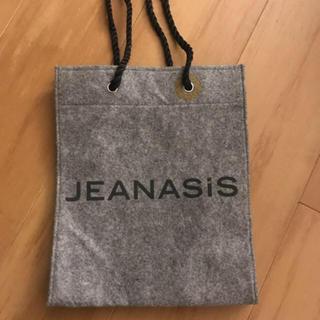 ジーナシス(JEANASIS)の値下!ジーナシス レア ショッパー グレー フェルト(ショップ袋)