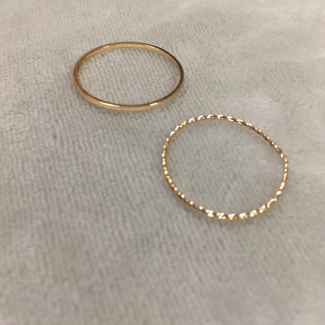 【訳あり】大きいサイズ ゴールドリング レディースのアクセサリー(リング(指輪))の商品写真