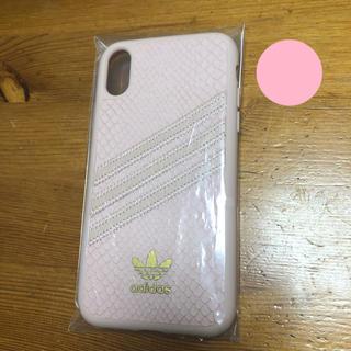 アディダス(adidas)の☆新品☆【iPhone XR】adidasクロコダイル風ケース(iPhoneケース)