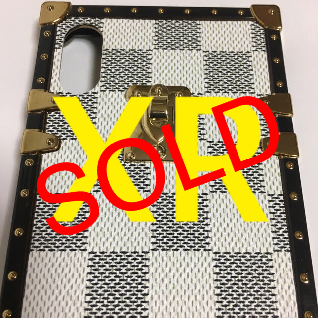 iPhone XRケース/ホワイト格子/☀️スマホも着替えなきゃね❗️☀️の通販 by sahiro's shop|ラクマ