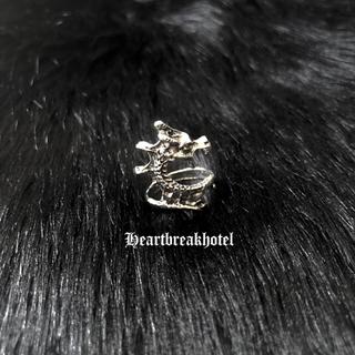 ♡ Vintage Silver Dark Dragon ring(リング(指輪))