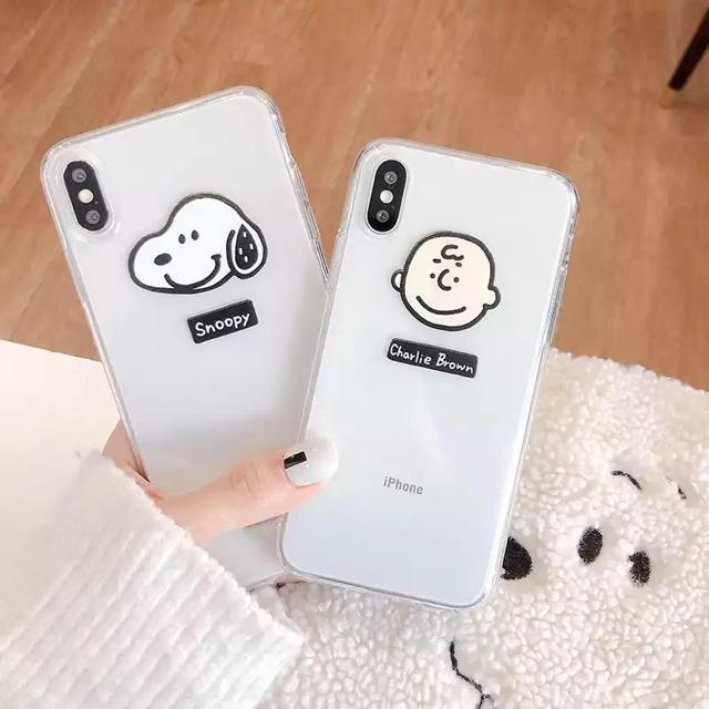 SNOOPY - 大人気のクリアiPhoneケース☆スヌーピー  ★チャーリーブラウンの通販 by りあん♡'s shop|スヌーピーならラクマ