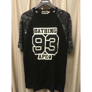 アベイシングエイプ(A BATHING APE)のAPE SPACE CAMO TEE エイプ スペースカモ ラグラン(Tシャツ/カットソー(七分/長袖))