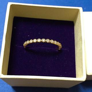 アガット(agete)のagete フリルリング K10 ダイヤ(リング(指輪))