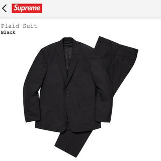 シュプリーム(Supreme)の【値下げ】supreme 19ss Plaid Suit Black Lサイズ(セットアップ)