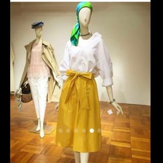 ティアラ(tiara)のティアラ フレアスカート 黄色 美品(ロングスカート)