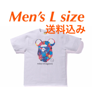 アベイシングエイプ(A BATHING APE)のBAPE X M mika ninagawa BE@R APE HEAD TEE(Tシャツ/カットソー(半袖/袖なし))
