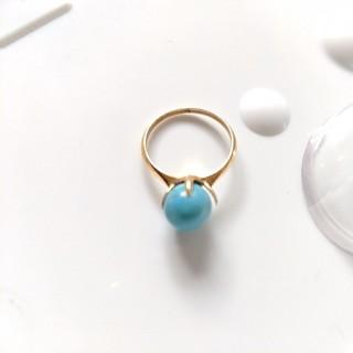 アガット(agete)のk18 ゴールド ターコイズ リング(リング(指輪))