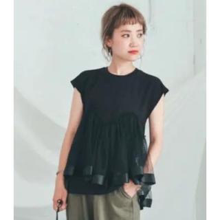 セレクト(SELECT)の♡セレクトモカ チュールドッキングTシャツ(未使用)♡(Tシャツ(半袖/袖なし))