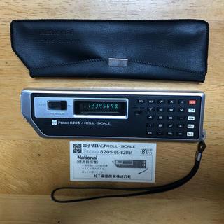 パナソニック(Panasonic)のナショナル 電子ソロバン ROLL-SCALE 蛍光表示管 電卓 80sオールド(オフィス用品一般)