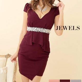 ジュエルズ(JEWELS)の新品未使用 ペプラム ウエストビジュー付きドレス(ナイトドレス)
